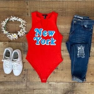⭐️New York BODYSUIT in Red-Coral